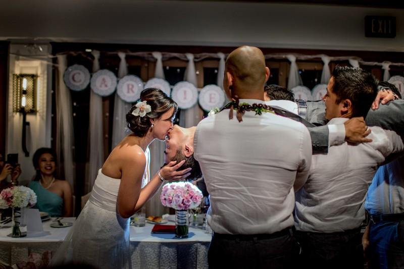 reception kissing