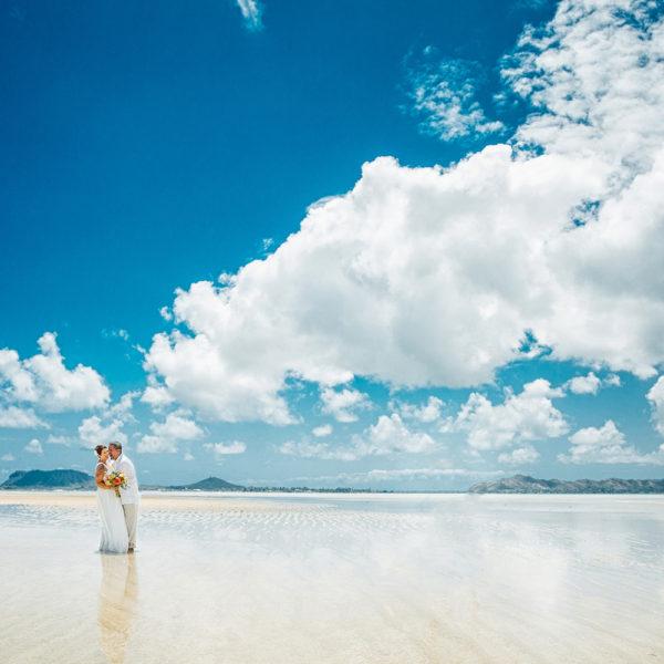 A fantasy beach wedding