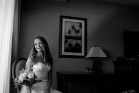 Getting ready before wedding