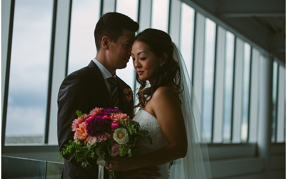 JJ and Jenny/ Olympic sculpture park wedding