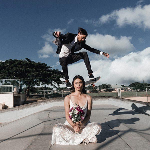 Jessica and Jarold/ skatepark wedding