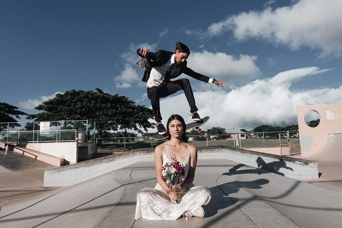 Jessica and Jarold/ skatepark wedding