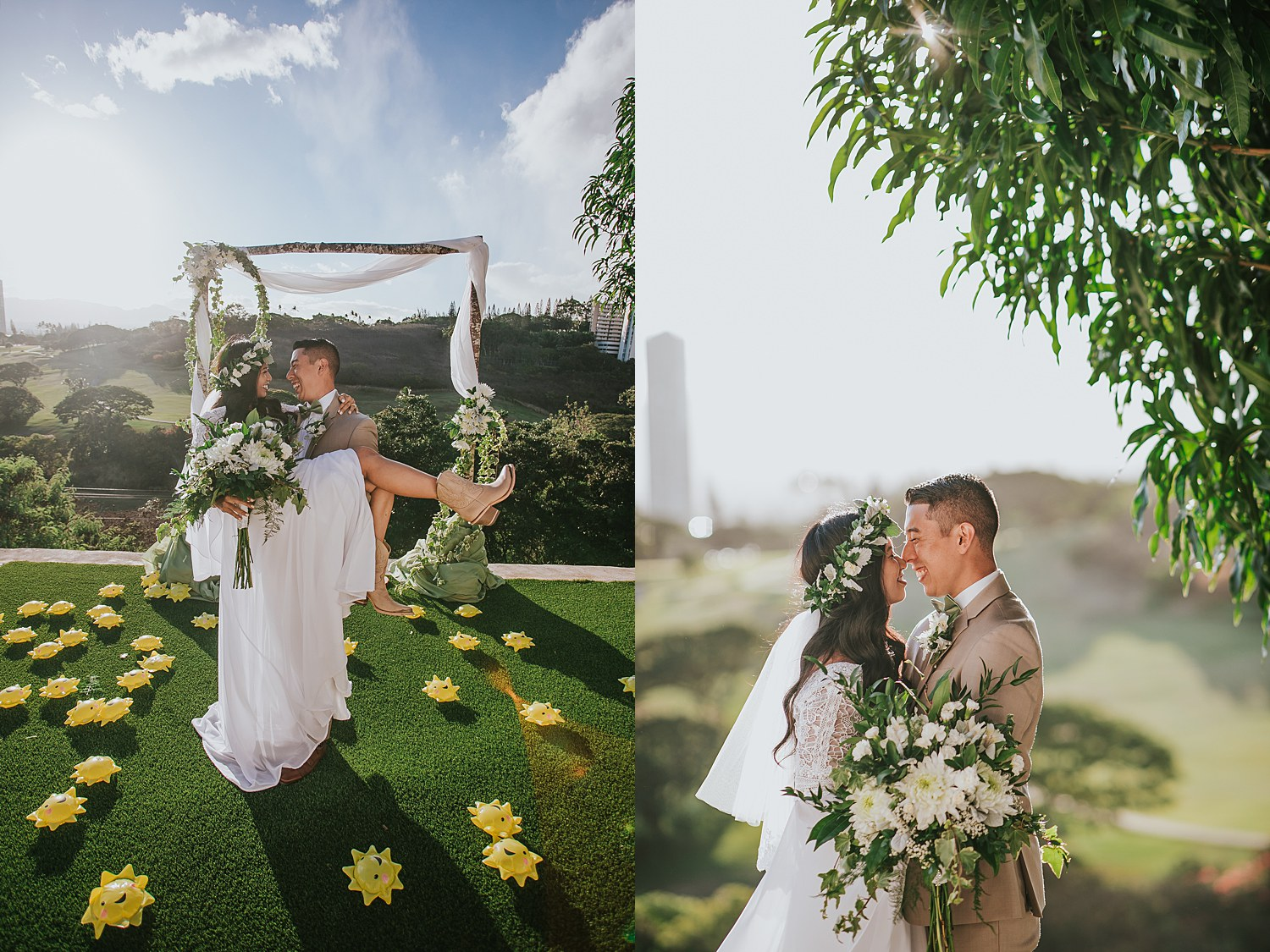 backyard wedding during hawaii's covid restrictions